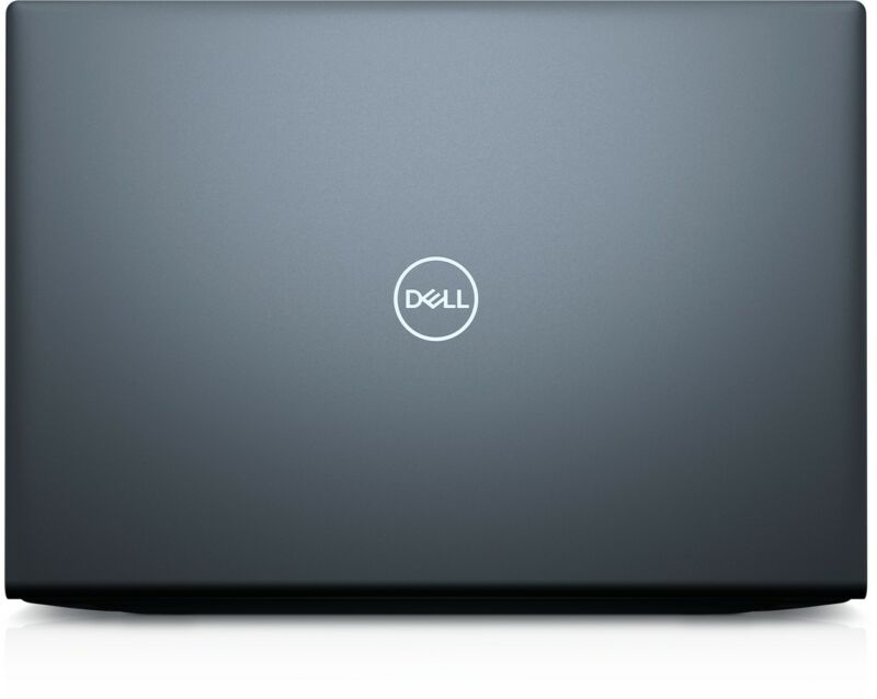The back panel on this 2021 Inspiron 16 Plus is pretty minimal.