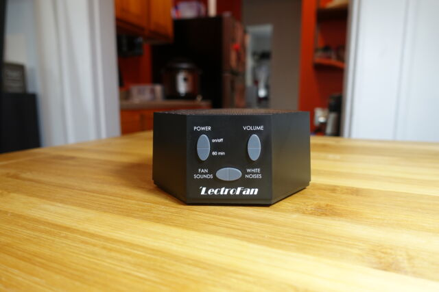 The LectroFan white noise machine.