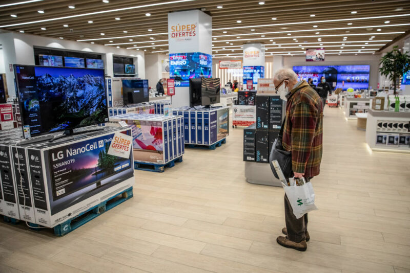 The chip shortage is driving up tech prices–starting with TVs