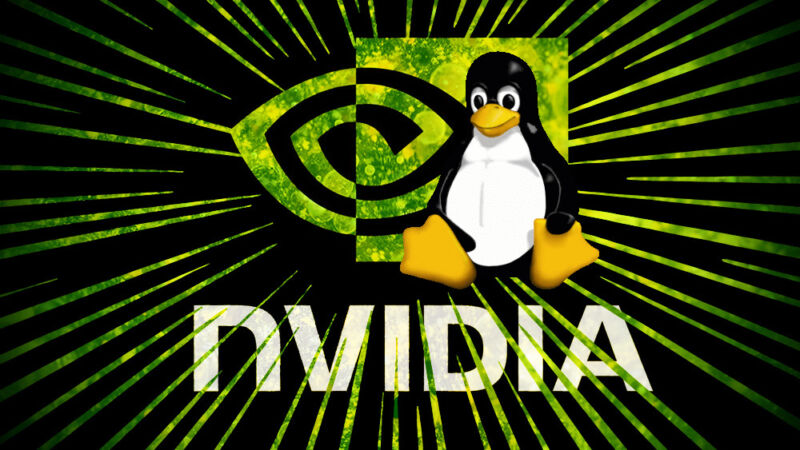 Three different logos, including a cartoon penguin, have been photoshopped together.